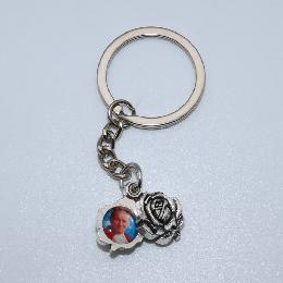 1.5cm Rose with picture for key holder (CK111)