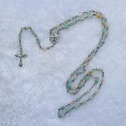 Rosary Beads - Catholic Rosary Bead Jesus Christ Cross Pendant