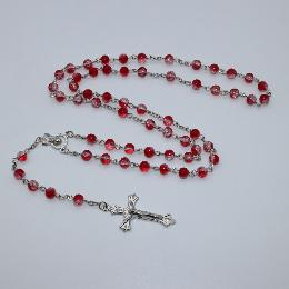 catholic rosary 6mm Colourful Floral rosary beads(CR401)