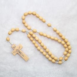 8*7mm catholic religious Wooden Beads Rosaries (CR068)