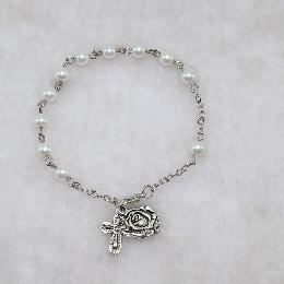 6mm Handmade Rosary Cross Bracelet (CB138)