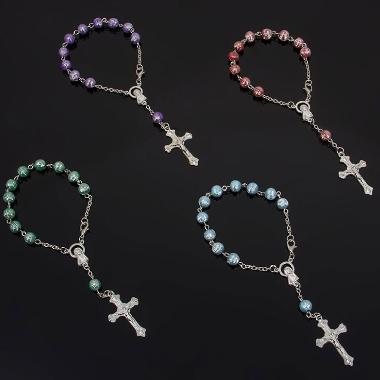 catholic 8mm beads one decade rosary (CE089)