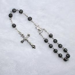 8mm catholic religious chain car rosary (CB010)
