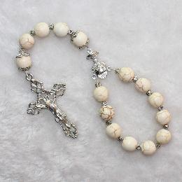 8mm religious Stone Beaded car rosary (CB114)