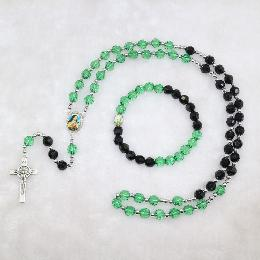 8mm rosary necklace with crucifix pendant (CRS004)
