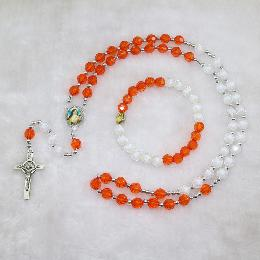 8mm Knotted Beads Necklace Jewelry Rosary (CRS008)