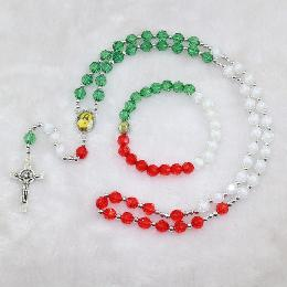 8mm handmade colorful plastic rosary beads(CRS009)