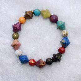 14mm Resin wholesale bead bracelets (AJ032)