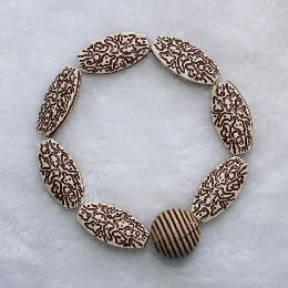 25mm Handmade Multilayer Bead Bracelet (AJ041)