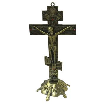 18.5cm religious Juses metal standing crucifix (CA094)